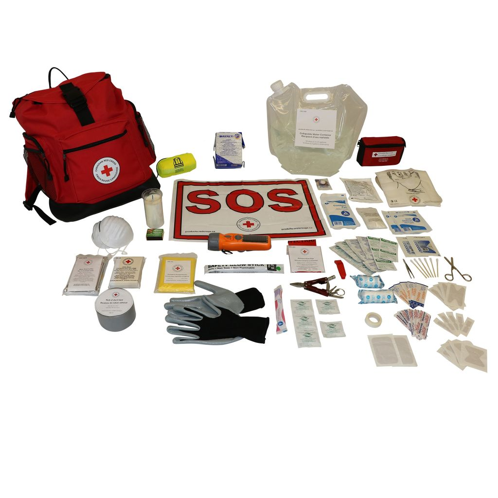 1 Person – Canadian Red Cross Deluxe Disaster Preparedness Kit