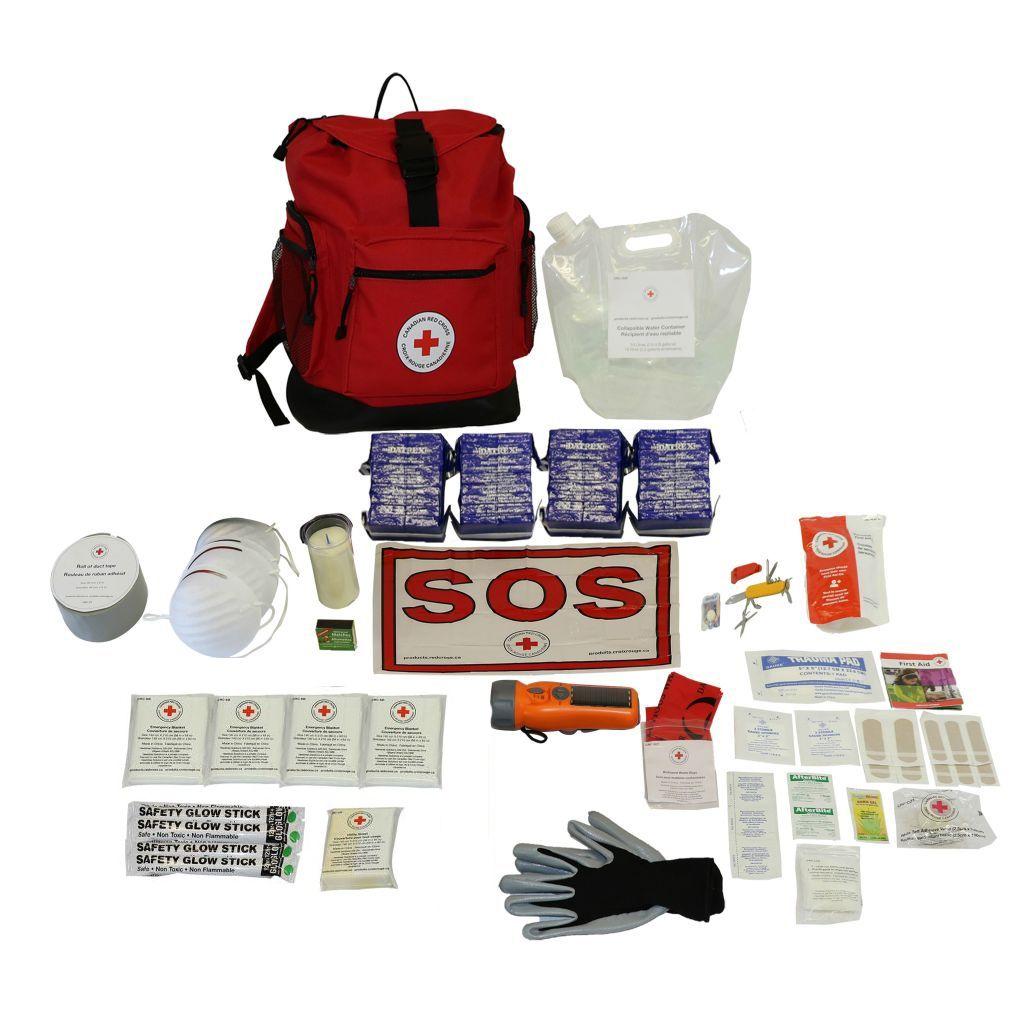 4-Person – Canadian Red Cross Basic Disaster Preparedness Kit
