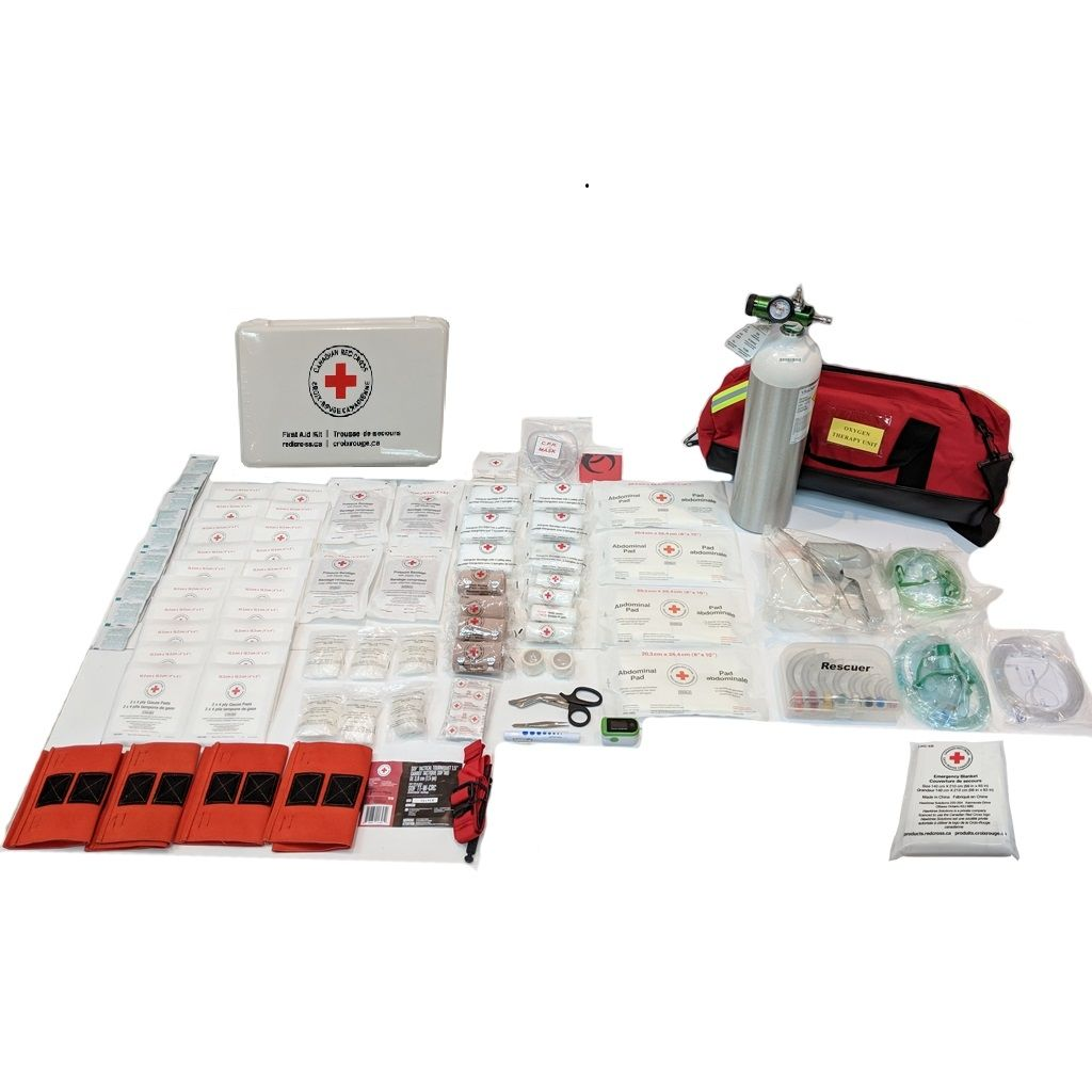 British Columbia Level 3 First Aid Kit in Plastic Box – With Oxygen Kit
